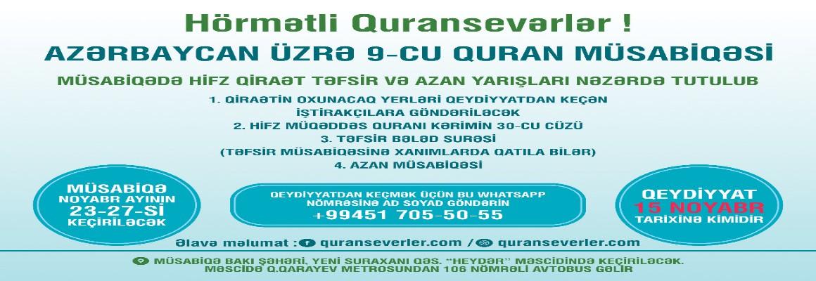 Quransevərlərin nəzərinə