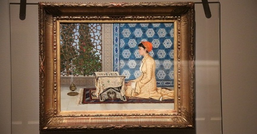 London muzeyində Osmanlı dövrünə aid Quran tablosu sərgiyə çıxarılıb