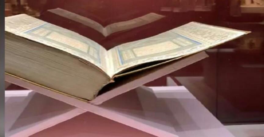 Qədim və nadir əlyazma Quran nüsxəsi ilk dəfə sərgiyə çıxarılıb